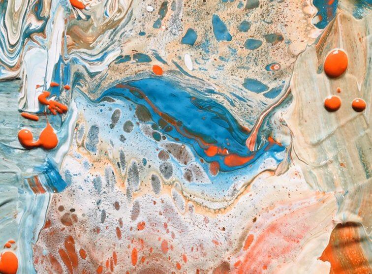 Acrylic pouring met Floetrol en siliconen…